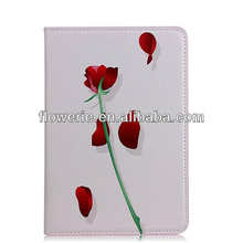 FL3268 2013 Guangzhou new product rose flower wallet leather flip case for ipad mini