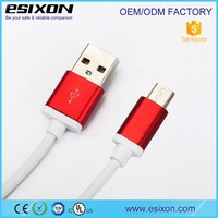 ROHS CE 2016 hot sales 2 in 1 micro dual usb data cable