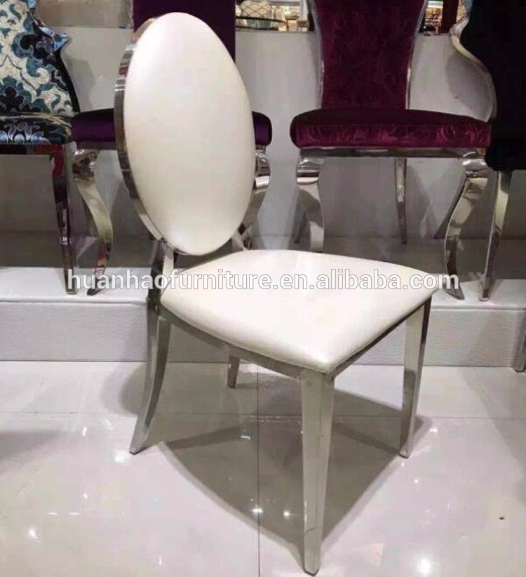 White finished stackable louis ghost steel wedding party rental chair Y863