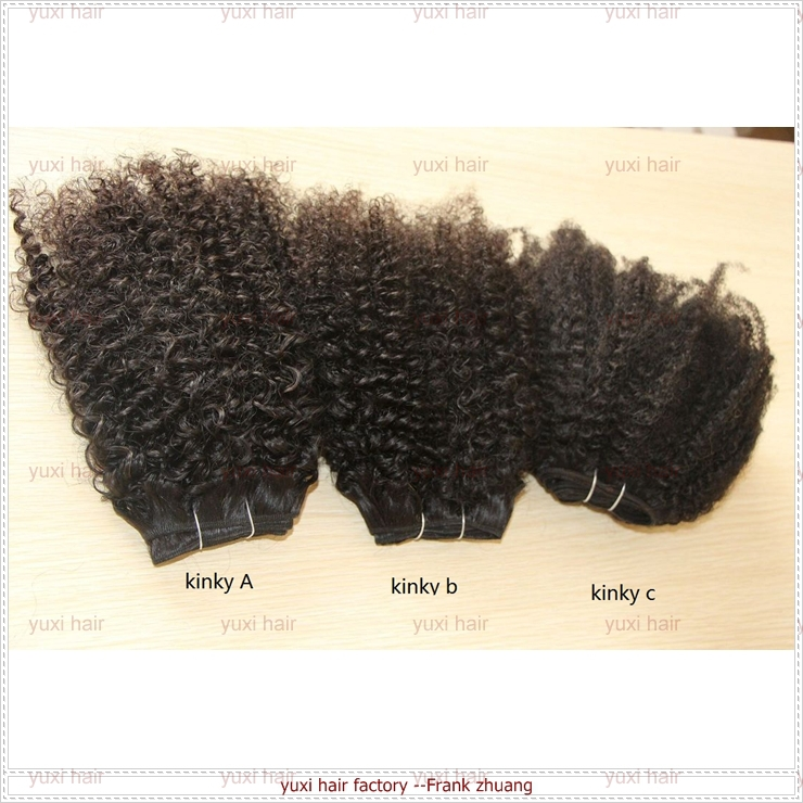 2016 Best Popular for African American afro kinky curly human hair weave