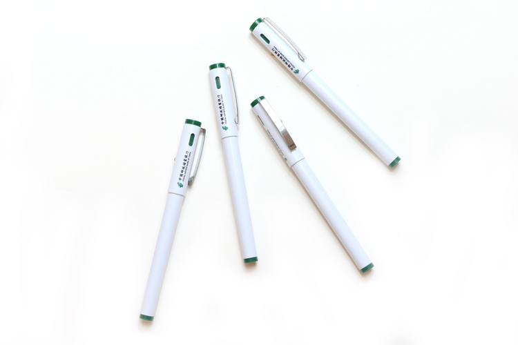 Factory Hot Sell Promotional Advertising Custom Logo White Plastic Gel Pen