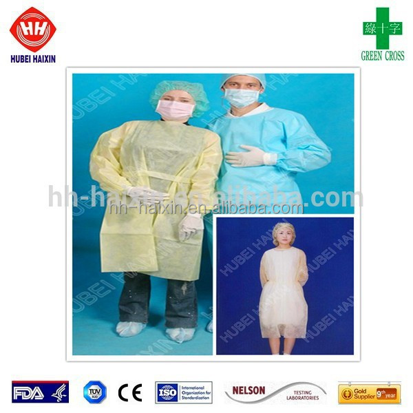 Disposable PP+PE super water-proof surgical gown