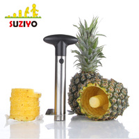 Stainless Steel Pineapple Corer | All in One Pineapple Tool, Peeler, Sharp Blades, Easy To Use Core Remover Tool, Easy to Clean