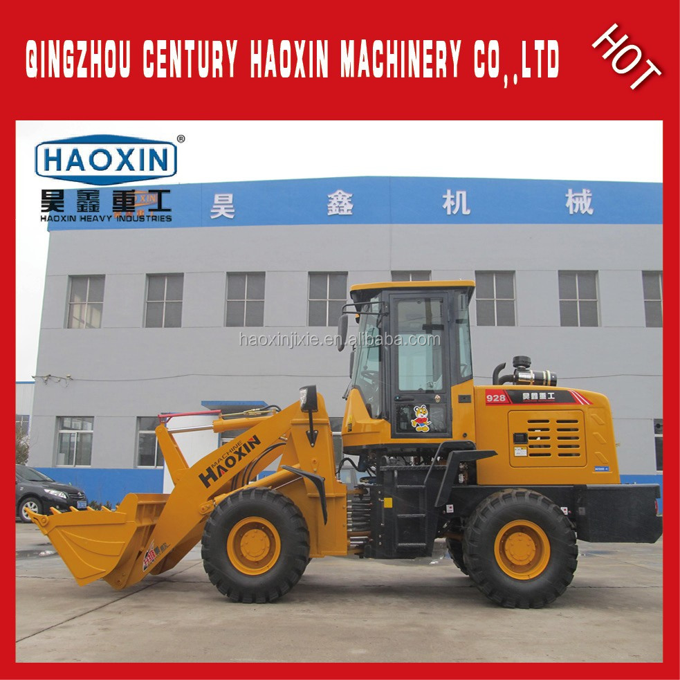 Chinese Best Construction Machine HaoXin garden tractor with front end Wheel Loader