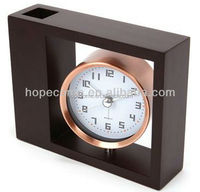 (W2810) Retro wooden table clock for hotel