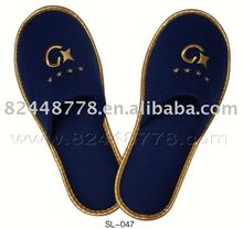 hotel high quality cotton terry towel bath slippers with logo