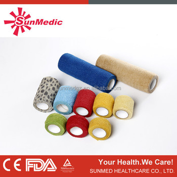 Self-stick bandage, Medical sport bandage, CE &FDA certificated medical non-adhesive water resistant&air permeating bandage
