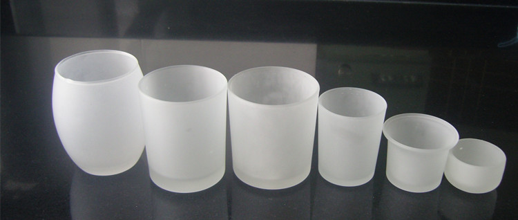 frosted tea light glass candle holder mexico glass candle holder
