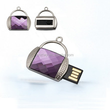 lady fashion!Diamond bag shaped usb flash drive,crystal usb,jewelry usb flash memory