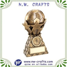 Hot sale resin bronze soccer ball awards sports trophy