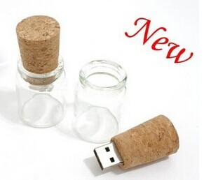 Pormotion Gifts Wooden & Glass Bottle 4gb 8gb Cheap USB Flash Drive