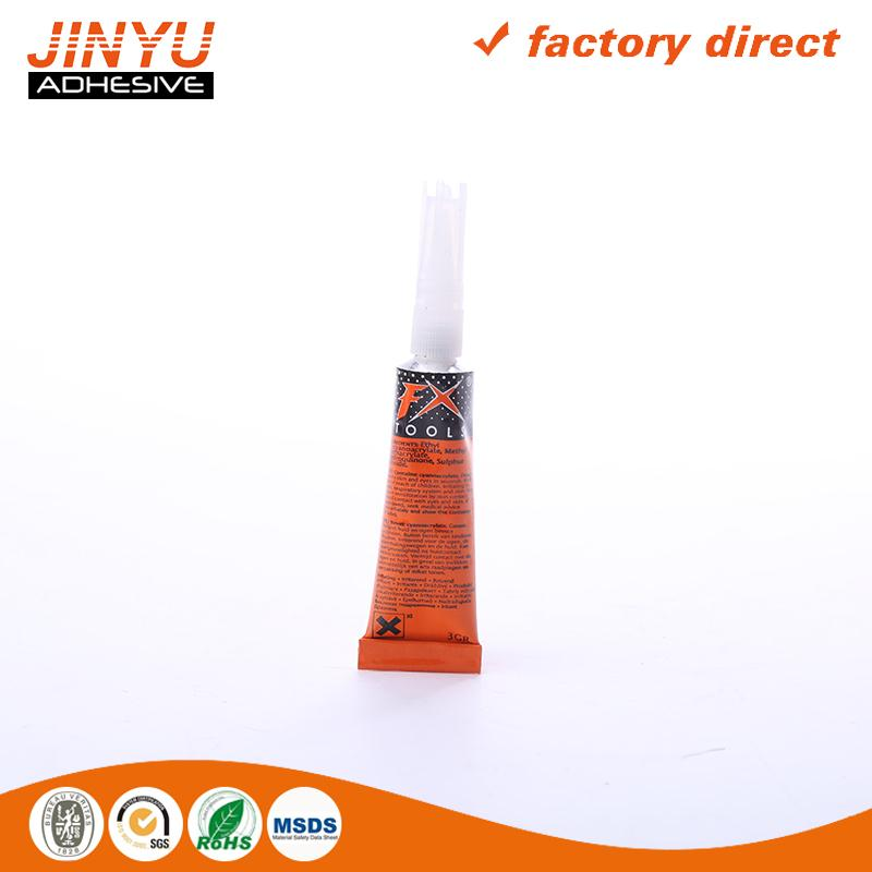 Professional Adhesive Factory 3 seconds quick dry cyanoacrylate adhesive tyre glue