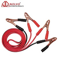 12V 24V Insulated Clamp Battery Jump Starter Cable 400amp 6 Gauge Car Booster Cable