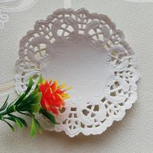 Paper doily round different packing