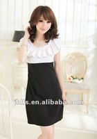 female fashion casual chiffon slim fit dress summer 2012