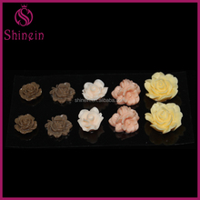 Flat back diy artificial flowers resin flower sticker for scrapbooking jewelry