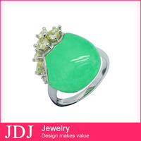 Hot sale Factory Price Jewelry 925 Silver Changes Color Obsidian Ring