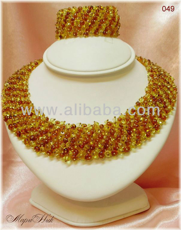 Baltic Amber Fashion Design Necklace