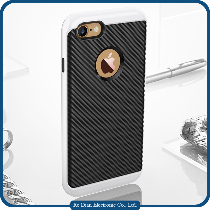 New Design Carbon Fiber Grain Telefone Protective Cases for iPhone 7