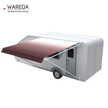 Aluminum retractable outdoor trailer awnings