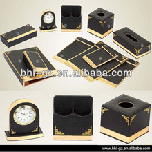 Antique Hotel Amenities Supplies Leather tableware set PW-100, China hotel article supplier