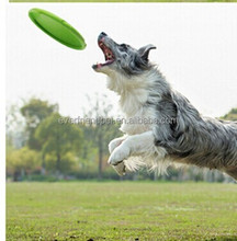 Caucho natural dog frisbee juguete perro ventilador/flying saucer