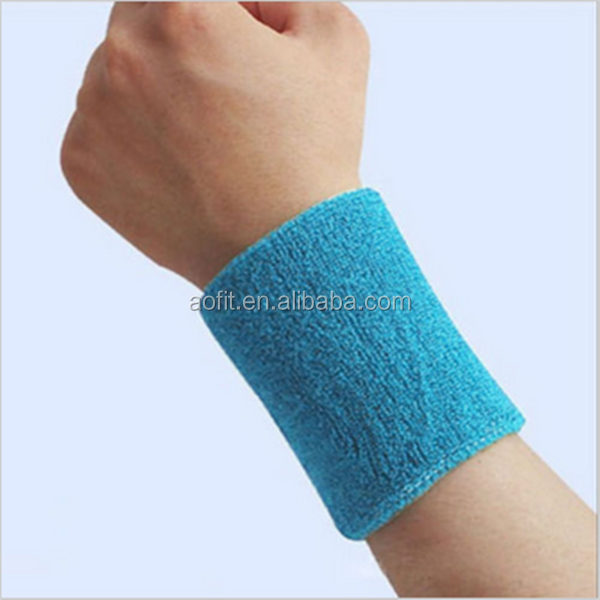 Manufacturer Colorful Sporting Sweat Protective Embrary Logo Wristbands