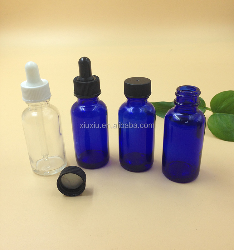 1/2 oz 15 ml E-liquid empty glass dropper bottles