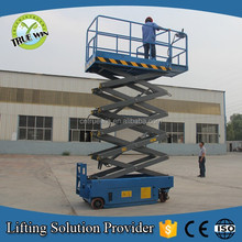 Germany exhibation hydraulic scaffolding systems/window cleaning crane / self propelled scissor lift