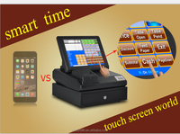 2016 new touch screen cash register pos computer with thermal printer