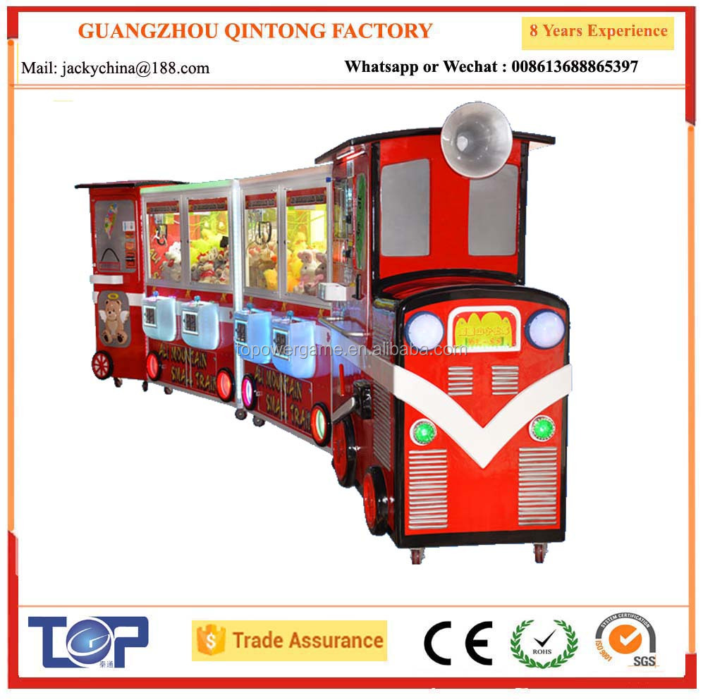 2017 factory newest train claw toy game machine for super market