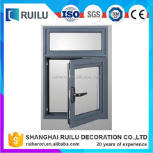 2017 New Standard design aluminum frame glass casement window with high quality <strong>hardwares</strong>
