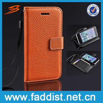 New Arrival Flip Leather Wallet Case for Apple iphone 5c