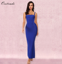 2018 wholesale hot elegant blue long backless maternity dress bandage dress