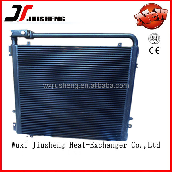custom made aluminum plate bar air cooled radiator for hydraulic oil cooler system by brazing construction