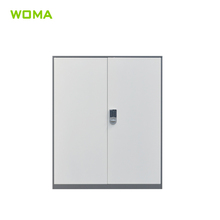 Smaller Steel Two Door Filing Cabinet with Electronic Lock