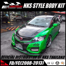 100% original design official copyright of NKS ABS/FRP material body kit for hon-d-a civic FD2/FC/FB 8 GENERATION 2008-2013