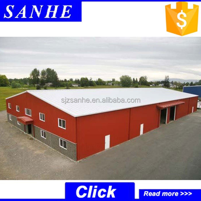 China prefabricated steel structure construction light gauge steel garage warehouse design