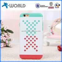 2014 new design dual color hybrid net mobile phone case for iphone 6