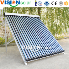 High efficiency heat pipe tube copper manifold solar collector