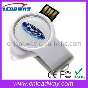 Creative Promotional Gifts rotating USB Flash Drive with Epoxy or Dooming LOGO and LED Torch