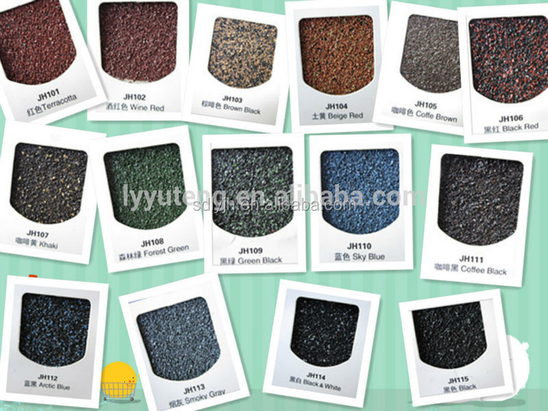 Waterproof stone coated steel roofing shingles in china for Names of roofing materials