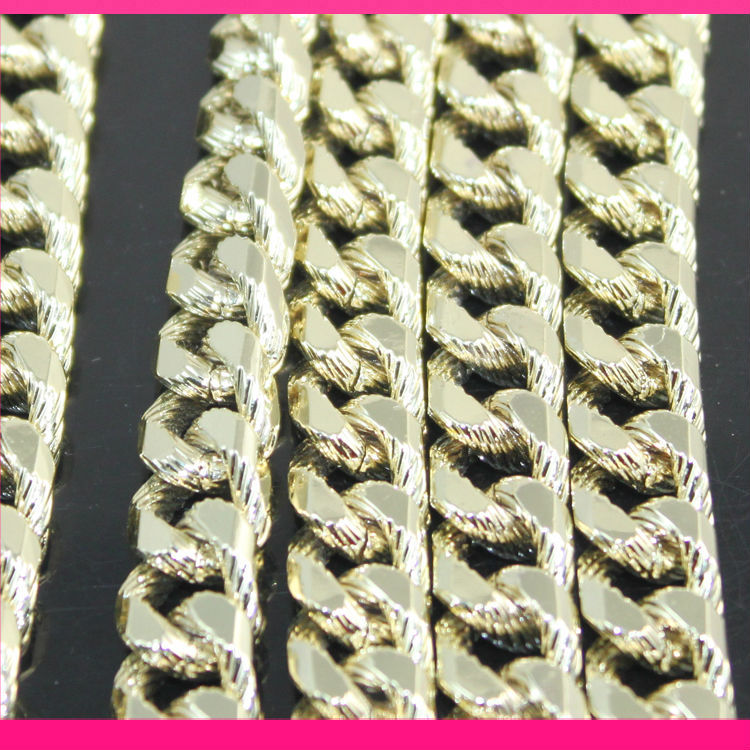 2.8mm*5mm*10mm gold plating iron metal handbag <strong>chain</strong>