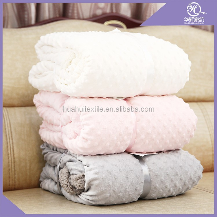 Custom china factory synthetic fur blanket