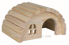 custom handmade house shape wooden rabbit hutch for hamsters gerbils wholesasle alibaba china