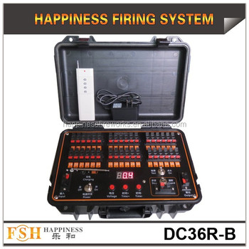 36 channels wireless remote control sequential rechargeable happiness fireworks firing system