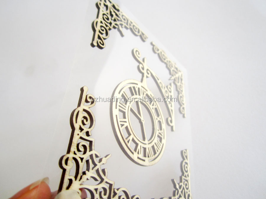 3D wall sticker, Laser hollow out of wood sticker