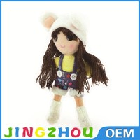 Charming long hair fashion plush girl doll,stuffed human doll toy,plush doll toys