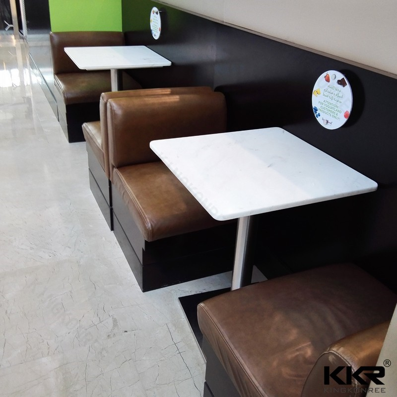 Kingkonree pure white solid surface dining <strong>table</strong>