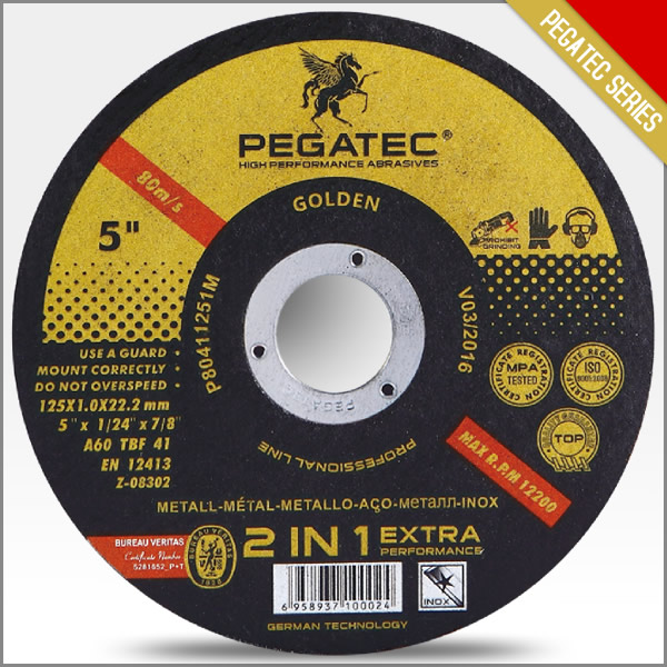 PEGATEC 125x1x22mm Stainless Steel Cutting Tools